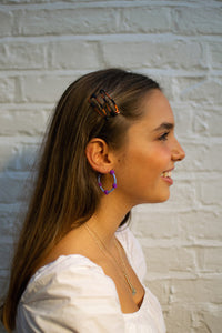 Lilac Bubble Hoops