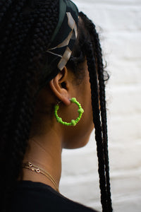 Light Green Bubble Hoops
