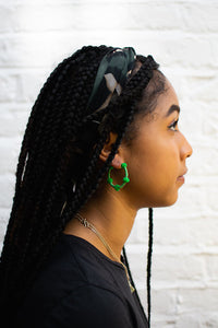 Dark Green Bubble Hoops