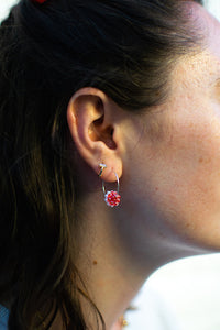 Gem Hoops Red