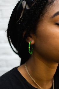 Green/Yellow Bead Hoops