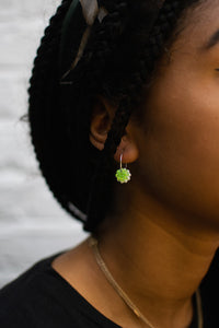 Gem Hoops Green