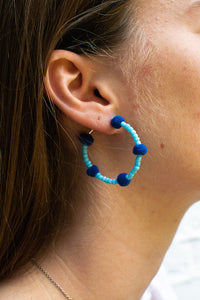Light Blue Bubble Hoops