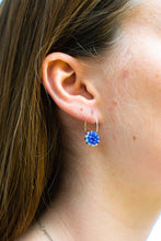 Load image into Gallery viewer, Gem Hoops Royal Blue