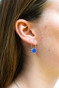 Gem Hoops Royal Blue