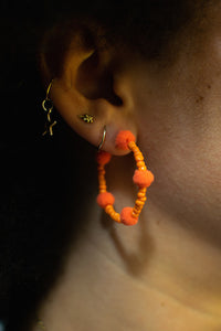 Orange Bubble Hoops