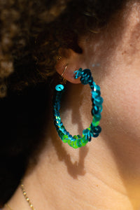 Sequin Wrap Hoops