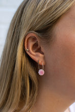 Load image into Gallery viewer, Gem Hoops Baby Pink