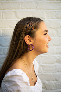 Purple Bubble Hoops