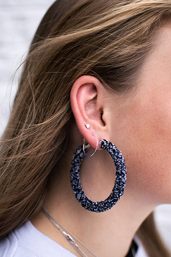 Zebra Wrap Hoops