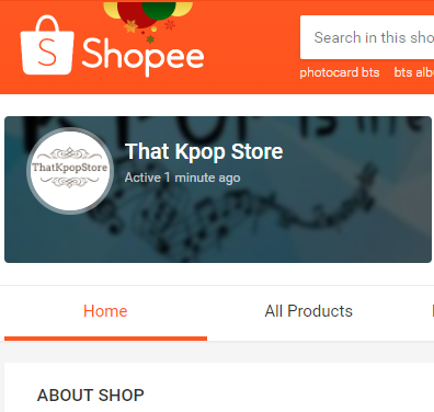 We are in Shopee!