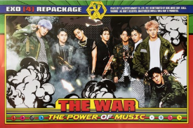 POSTER - EXO Vol. 4 - THE WAR: THE POWER OF MUSIC (Repackage)