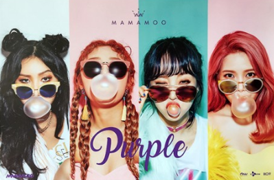 POSTER - Mamamoo Mini Album Vol. 5 - PURPLE (B)