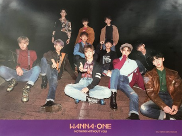 POSTER - WANNA ONE Mini Album Vol. 1 - Nothing Without You (To Be One Prequel Repackage) (Purple Ver)