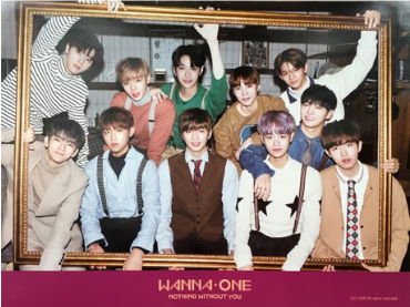 POSTER - WANNA ONE Mini Album Vol. 1 - Nothing Without You (To Be One Prequel Repackage) (Wine Ver)