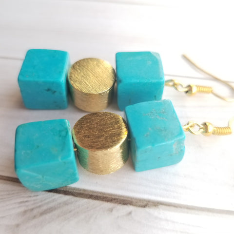 Turquoise Statement Earrings