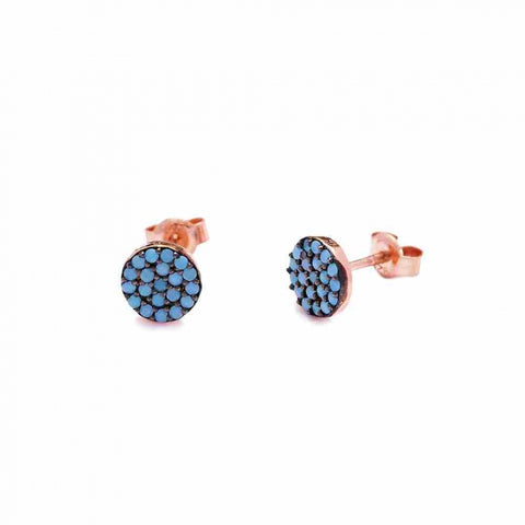 Turquoise Stud Earrings - - Earring