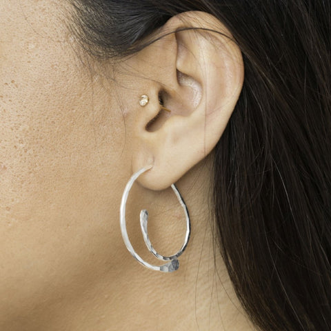 Sterling Silver Jacket Earrings