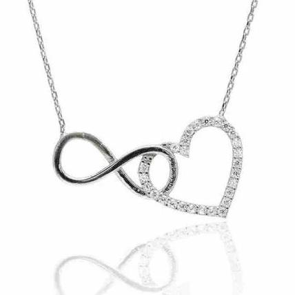 Infinity Heart Necklace - -