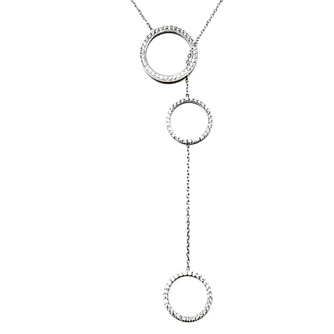 Circle Lariat Karma Necklace - -