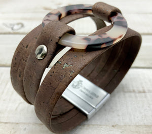 Beautiful Unique Genuine Portuguese Cork Jewelry designed and handmade on the Outer Banks of North Carolina - Nautigirl252jewelry vegan leather alternative sustainable fashion animal free