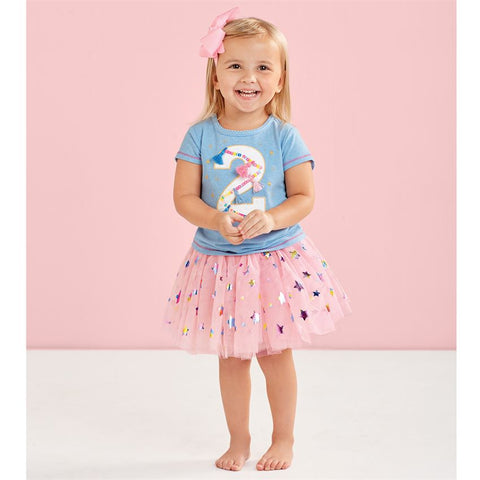 "Image of Mud Pie Birthday Girl ""2"" Birthday Skirt Set Size 2T"