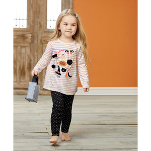 Mud Pie Girls Halloween Tunic and Pant Set 3M-5T