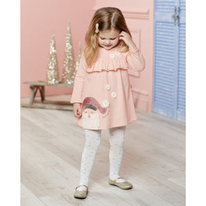 Mud Pie Christmas Holiday Santa Dress And Tights Set