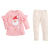 Mud Pie Girls Christmas Holiday Sparkle PomPom Santa Tunic Legging Set 12M-5T