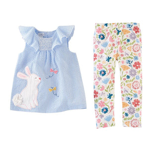 Mud Pie Girls Easter Tunic & Leggings Set 12M to 5T