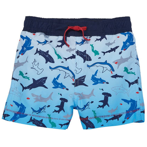 Mud Pie Baby Boy's Shark Swim Trunks  Size 6 Months to 5T