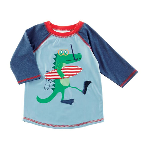 Mud Pie Boy Alligator Rash Guard Size 6 Months to 5T