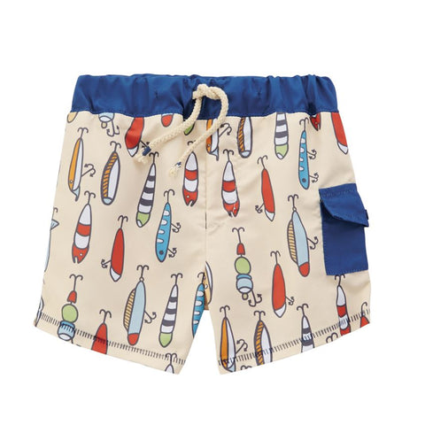Mud Pie Boy Fishing Swim Trunks 6 Months to 5T
