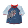 Mud Pie Boy Shark Rash Guard Size 6 Months to 5T