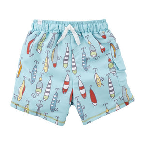 Mud Pie Baby Boys Fishing Lure Swim Trunks 12M-5T