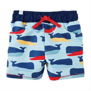Mud Pie Baby Boys Whale Swim Trunks 12M-5T