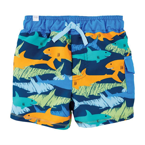 Mud Pie Baby Boys Shark Swim Trunks 12M-5T