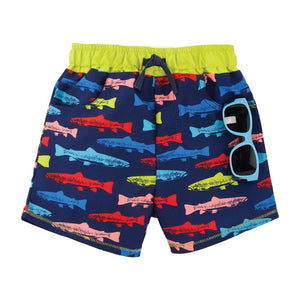 Mud Pie Baby Boys Shark Swim Trunk w Sunglasses Set 12M-5T
