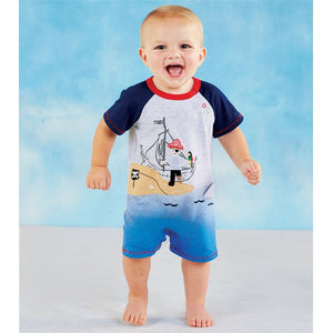 Mud Pie Baby Boy Pirate Shortall Size 3 Months to 18 Months