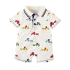Mud Pie Baby Boy Tractor Collar Shortall Size 3 Months to 18 Months