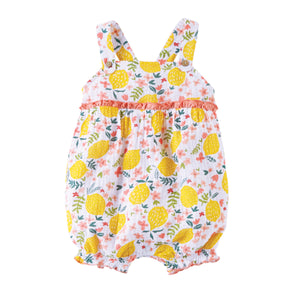 Mud Pie Baby Girls Lemon Floral Bubble Size 3 Months to 18 Months