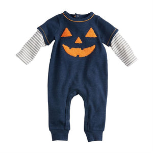 Mud Pie Boys Halloween Jack O Lantern One Piece Longall 3M-12M
