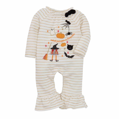Image of Mud Pie Girls Halloween Icon One Piece Romper 3M-12M