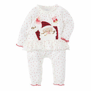 Mud Pie Girl Christmas Red Santa One Piece / Romper