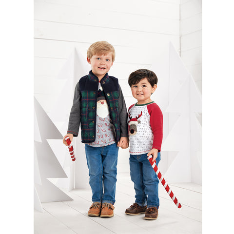 Image of Mud Pie Boys Tartan Sherpa Vest