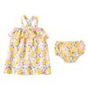 Mud Pie Girl Lemon Floral Toddler Dress Size 12 Months to 5T