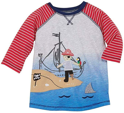 Image of Mud Pie Boys Shark / Pirate ank shirt Size 12M-5T
