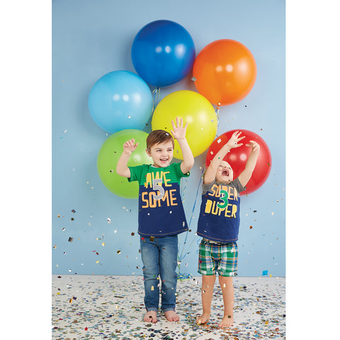 "Image of Mud Pie Little Boy ""Awesome "" Birthday T-Shirt Size 5T"