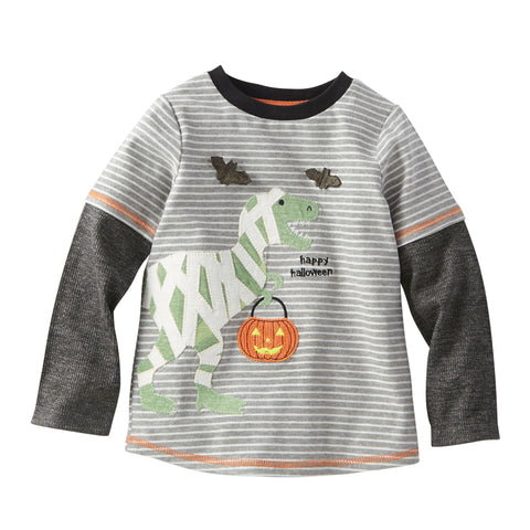 Image of Mud Pie Boys Halloween Dino Mummy / Ghost T-shirt 12M-5T