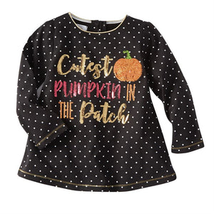 Mud Pie Girls' Halloween Long Sleeve Top Size 12M-5T